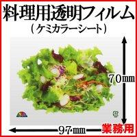 ケミカラーシートでお料理の飾りつけを鮮やかに!業務用・ケミカラーシート 野菜サラダ 1枚当たり2.84円【2,000枚入り】W97mmxH70mm