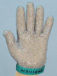 精肉加工・水産物の解体、工場内の機械等に刃物から手を保護!業務用・ヨーロッパ製高品質!ステンレスメッシュ手袋5本指タイプ XSサイズ【片手1本入り/1組】(左右兼用型)