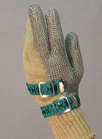 精肉加工・水産物の解体、工場内の機械等に刃物から手を保護!業務用・ヨーロッパ製高品質!ステンレスメッシュ手袋3本指タイプ XSサイズ【片手1本入り/1組】(左右兼用型)