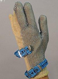 精肉加工・水産物の解体、工場内の機械等に刃物から手を保護!業務用・ヨーロッパ製高品質!ステンレスメッシュ手袋3本指タイプ Lサイズ【片手1本入り/1組】(左右兼用型)