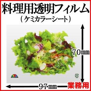 画像1: ケミカラーシートでお料理の飾りつけを鮮やかに!業務用・ケミカラーシート 野菜サラダ 1枚当たり2.84円【2,000枚入り】W97mmxH70mm